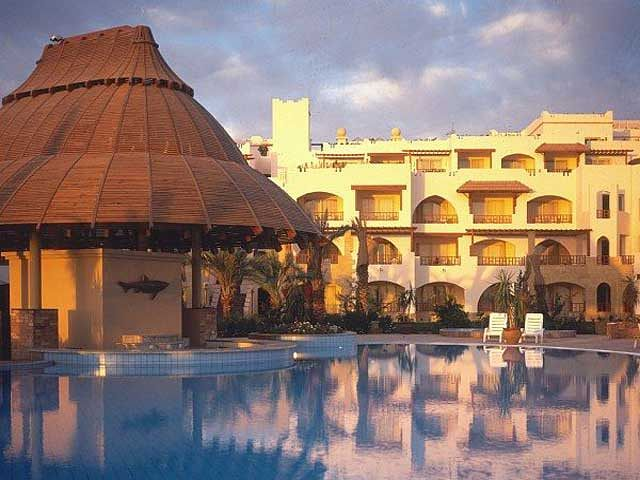 Hotel Royal Grand Sharm - widok nocą