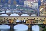 Mosty Florencji, na pierwszym planie Most Złotników