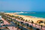 Piaszczysta plaża w Hammamet
