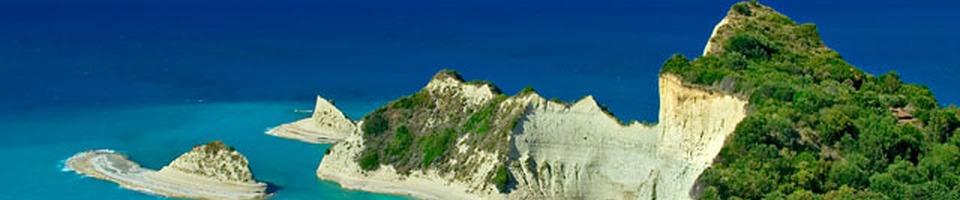 Cape Drastis na wyspie Korfu (Grecja)
