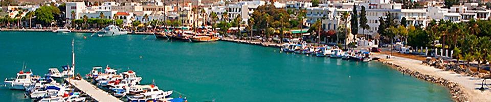 Widok na port w Kos