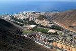 Widok na Morro Jable od strony wyspy