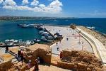 Widok z fortu w Paphos