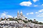 Widok na bazylikę Sacre-Coeur - Paryż