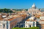 Rzym, widok na Bazylikę Św. Piotra