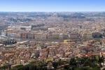 Rzym, widok na miasto, w tle Watykan