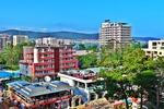 Widok na hotele w Słonecznym Brzegu