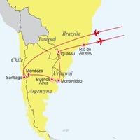 Chile - Argentyna - Urugwaj - Paragwaj - Brazylia: Pięć krajów Ameryki