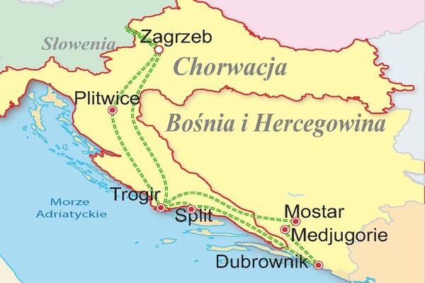 Chorwacja - Bośnia - Adriatyk Tour