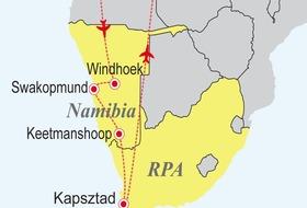 Namibia - RPA - Druga twarz Afryki