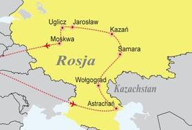 Rosja - Rejs rzeką Wołgą
