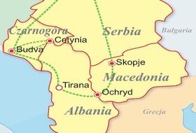 Serbia, Czarnogóra, Macedonia, Albania - Słoneczne Bałkany