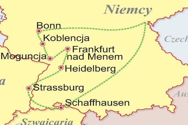Szwajcaria, Francja, Niemcy - Wzdłuż Renu i Mozeli