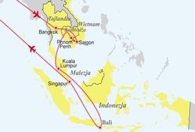 Tajlandia, Wietnam, Kambodża, Malezja, Singapur, Indonezja - sześć krajów Azji