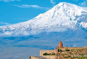Widok na Ararat - zwiedzanie Armenii